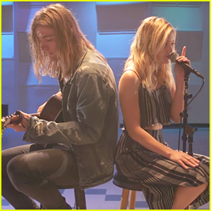 Olivia Holt Recruits Rocky Lynch For Selena Gomez 'Hands To Myself' Cover - Watch Now!