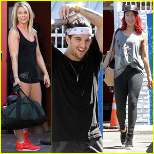 Mark Ballas & Sharna Burgess Get In One More Practice with Switch-Up Partners Ahead of DWTS Tonight