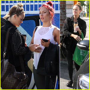 Sharna Burgess & Peta Murgatroyd Pow Wow Before First Switch Up Week Dance Practice