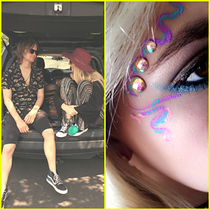 Rydel Lynch Shows Off Colorful Coachella Makeup - See It Here!