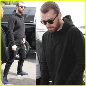 Sam Smith Departs LA After Surprise Coachella Appearance