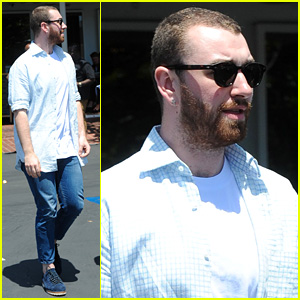 Sam Smith Spends Monday with Some Pals