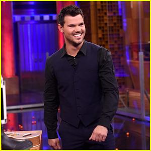 Taylor Lautner Takes on Jimmy Fallon in 'Random Object Shootout' - Watch Now!