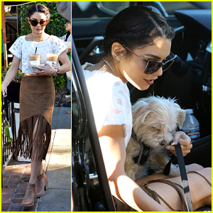 Vanessa Hudgens Stops to Pick Flowers With Sister Stella