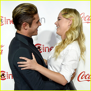 Zac Efron & Maika Monroe Reunite at CinemaCon!