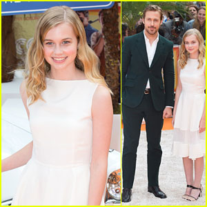 Angourie Rice Premieres 'The Nice Guys' In London with Ryan Gosling