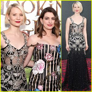 Mia Wasikowska Wows in Sheer Gown at 'Alice Through the Looking Glass' Premiere