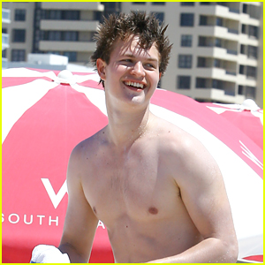 Ansel Elgort Has Some Fun in the Sun on Miami Trip