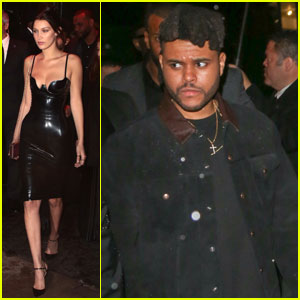 Bella Hadid & The Weeknd Brave the Rain for Met Gala 2016 After-Party