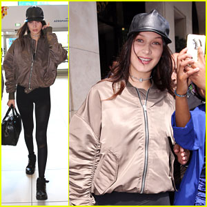 Bella Hadid Leaves Paris For Italy For 'Vogue Japan' Shoot