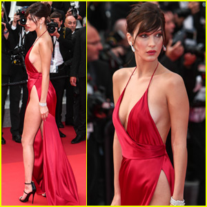 Bella Hadid Shows Some Skin in High Slit Gown