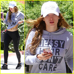 Bella Thorne Has 'Messy Hair' & Doesn't Care After Workout