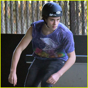 Brooklyn Beckham is One Hot Skateboarder!