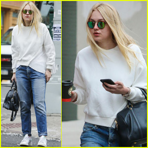 Dakota Fanning Takes an NYC Stroll