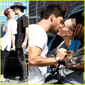 Peta Murgatroyd Gets Kiss From Maksim Chmerkovskiy Outside Dance Studio