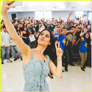 Emeraude Toubia Serves As Get Schooled Celebrity Prinicipal For the Day at Middle College High