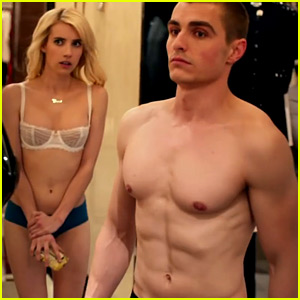 Emma Roberts Strips Down to Lingerie in 'Nerve' Trailer with Dave Franco!