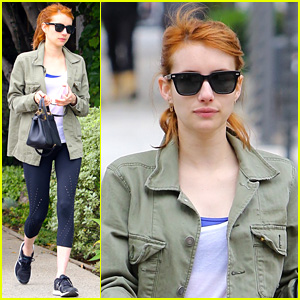 Emma Roberts Gets In a Monday Morning Workout!