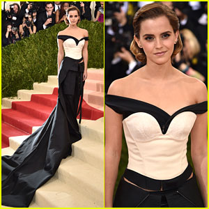 Emma Watson Takes Green Carpet Challenge at Met Gala 2016
