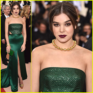 Hailee Steinfeld Goes Glam in Green For MET Gala 2016
