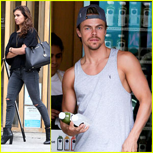 Derek Hough & Hayley Erbert Juice Up Together In LA