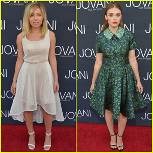 Jennette McCurdy & Holland Roden Get Glam For 'Jovani' Store Opening