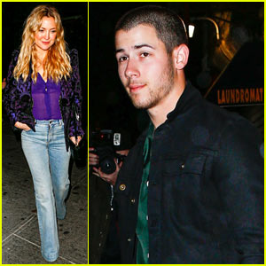 Nick Jonas Dines with Kate Hudson Before the Met Ball