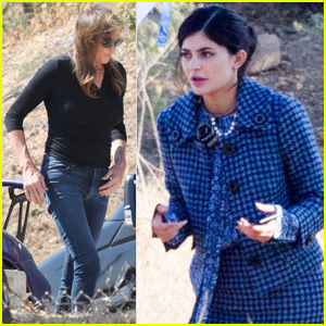 Kylie Jenner Gets a Visit From Dad Caitlyn at a Photo Shoot