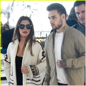 Liam Payne & Cheryl Fernandez-Versini Touch Down in Paris Together