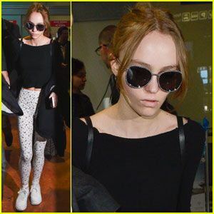 Lily-Rose Depp Jets Off to Cannes