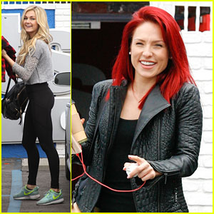 DWTS' Lindsay Arnold & Sharna Burgess Hit Dance Studio with Celeb Partners