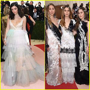 Lorde & Haim Rule The Red Carpet at Met Gala 2016