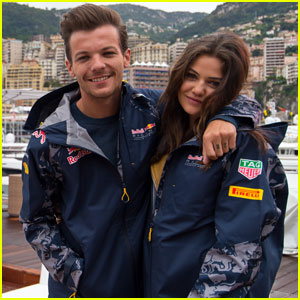 Louis Tomlinson Braves the Rain With Danielle Campbell for F1 Grand Prix