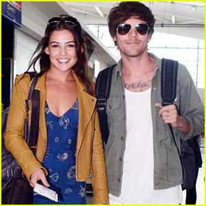 Louis Tomlinson & Danielle Campbell Depart Heathrow After Attending Friends' Wedding