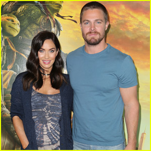 Stephen Amell & Megan Fox Snap a Cute Selfie During 'TMNT' Promo
