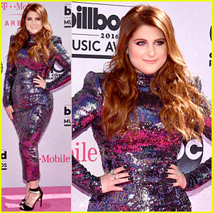 Meghan Trainor Dazzles in Sparkly Dress at Billboard Music Awards 2016!