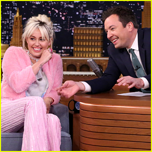 Miley Cyrus Makes Some Faces on 'Tonight Show' - Watch Now!