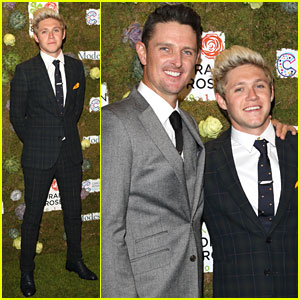 Niall Horan Suits Up For 'Horan & Rose' Event in England