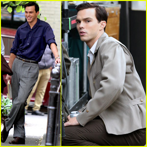 Nicholas Hoult Gets into Character on 'Rebel in the Rye' Set