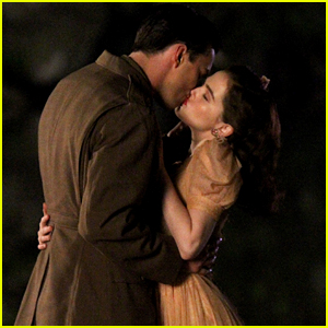 Nicholas Hoult Kisses Zoey Deutch on 'Rebel in the Rye' Set