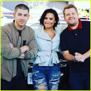 Demi Lovato & Nick Jonas Do Carpool Karaoke with James Corden - Watch Now!