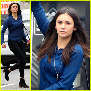 Nina Dobrev Takes Part in Twitter Campaign #URhand4Ecuador