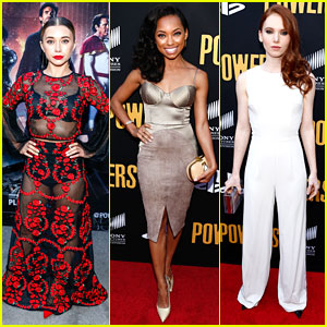 Olesya Rulin Reunites With Logan Browning at 'Powers' Season Two Premiere
