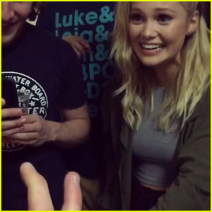 Collins Key Freaks Olivia Holt Out With Amazing Trick - Watch Here!