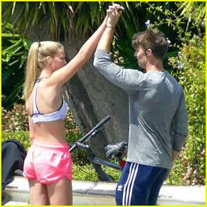 Patrick Schwarzenegger Gets In Workout With Abby Champion Ahead of Weekend