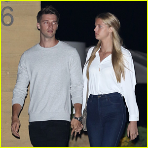 Patrick Schwarzenegger & Abby Champion Hit Up Private Beach Club Opening
