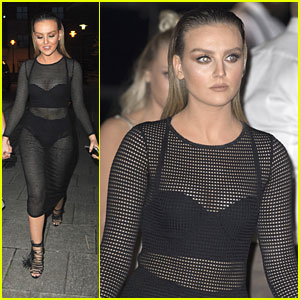 Perrie Edwards Rocks Sheer Dress for Ladie's Night Out