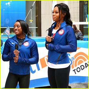 Simone Biles & Gabby Douglas Celebrate The Road To Rio in NYC
