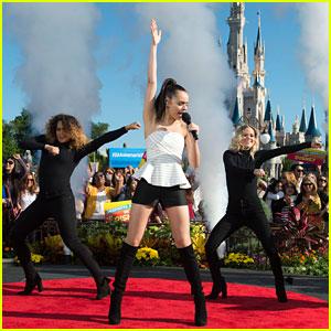 Sofia Carson Flies Into Despierta America Performance By Hot Air Balloon at Walt Disney World!