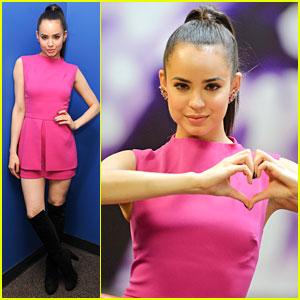 Sofia Carson Promotes 'Love Is The Name' in Miami